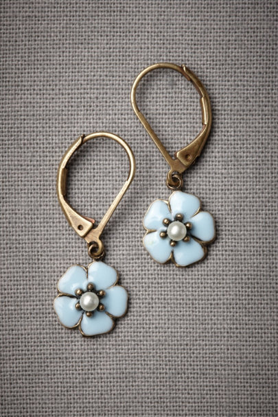 Blue Bachelor's Button Earrings | BHLDN