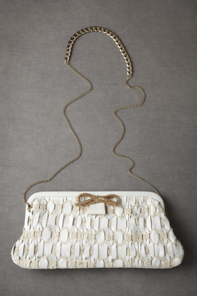 White Woven Pathways Clutch | BHLDN
