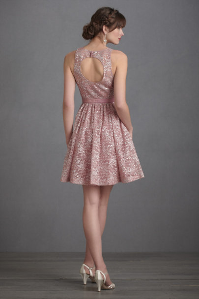 Tracy Reese Blush Metallic Cloudberry Dress | BHLDN