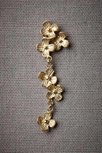 Gold Falling Flowers Earrings | BHLDN