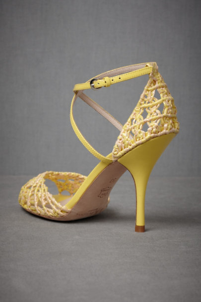 Yellow/Ivory Lemnos Peep Toes | BHLDN