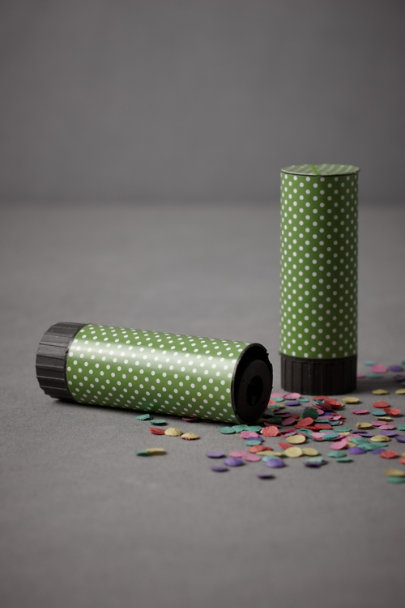 Green Speck and Spot Confetti Poppers (20) | BHLDN