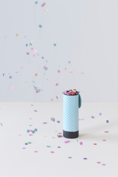 Blue Speck and Spot Confetti Poppers (20) | BHLDN