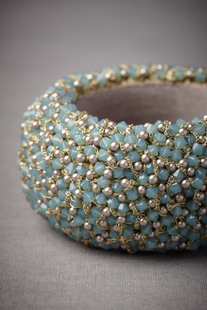 Green Sea Glass Cuff | BHLDN