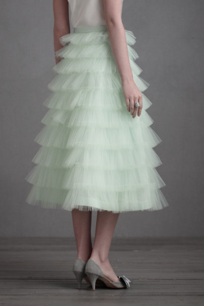 Icy Mint Minty Crinoline Skirt | BHLDN