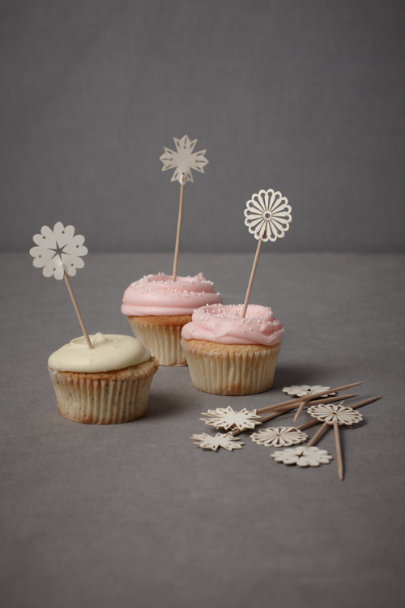 Ivory Wee Medallion Food Picks (24) | BHLDN