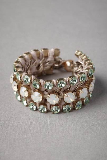 green Fastened Facets Bracelet | BHLDN