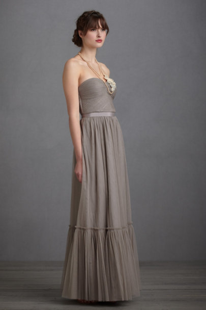 French Grey Niceties Dress | BHLDN