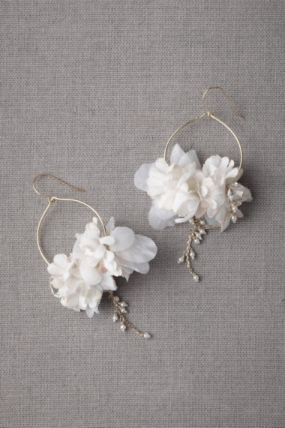 ivory Ikebana Earrings | BHLDN