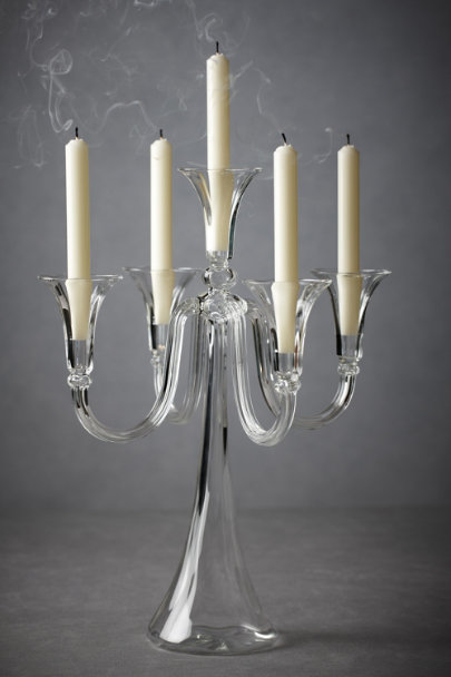 Clear Bent Light Candelabra, Short | BHLDN