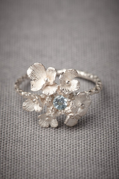 Silver Silvered Posy Ring | BHLDN