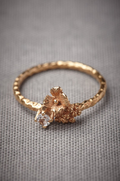 Gold Hortensia Ring | BHLDN