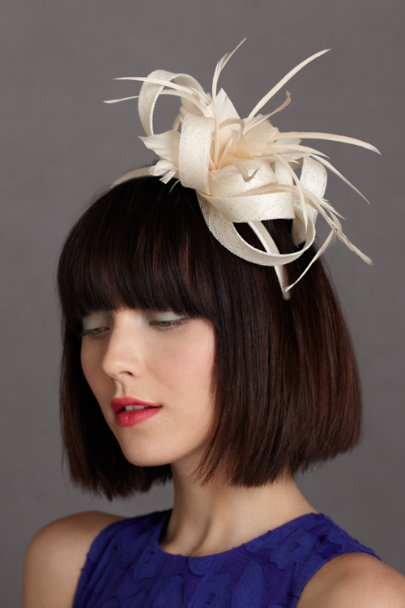 ivory Curling Cage Headband | BHLDN