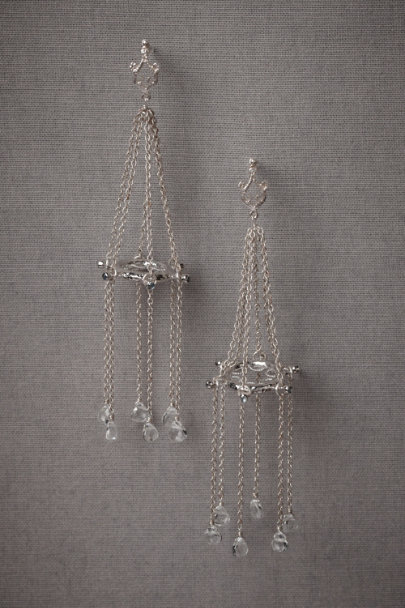 White Gold Helmswoman Earrings | BHLDN