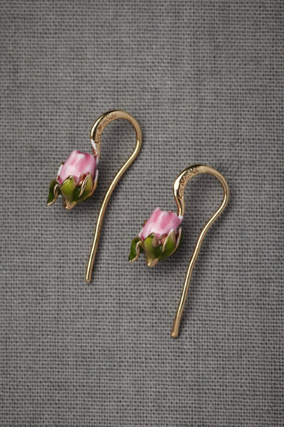 pink Blushing Buds Earrings | BHLDN
