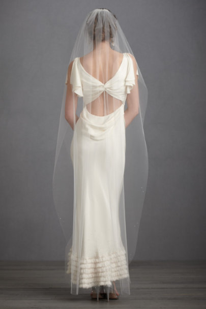Debra Moreland diamond white Lighter-Than-Air Veil | BHLDN