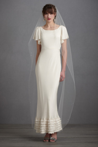 Debra Moreland Ivory Lighter-Than-Air Veil | BHLDN