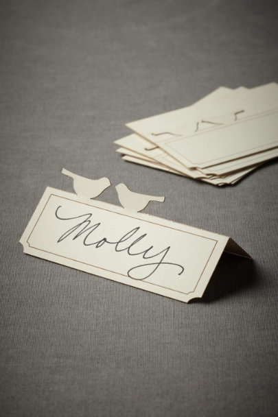 Cream Partridge Peck Place Cards (10) | BHLDN
