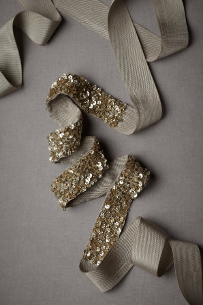 Gold Collected Stars Sash | BHLDN