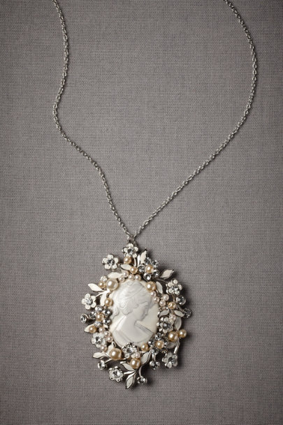 Silver Sylvan Portrait Necklace | BHLDN