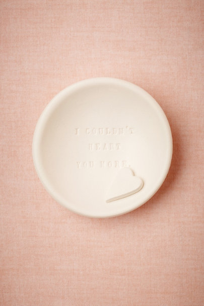 Paloma's Nest Cream I Couldn't Heart You More Dish | BHLDN