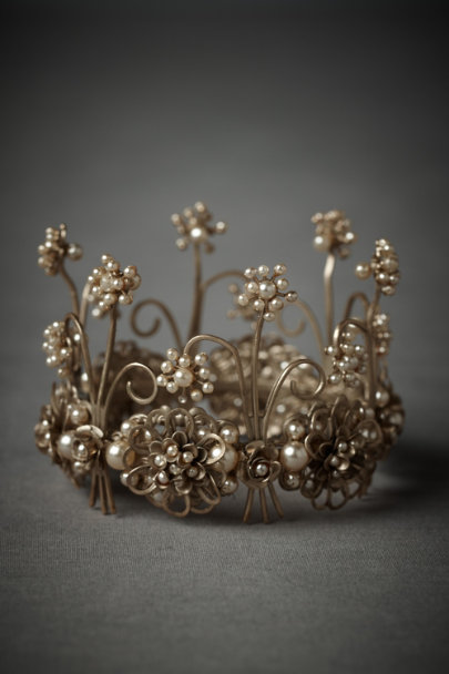 Debra Moreland gold & ivory Nymph's Crown Cake Topper | BHLDN