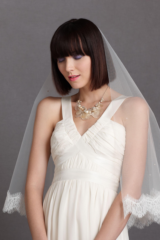 Wedding Mantilla Veil mantilla veil in veils accessories ballet fingertip bhldn ivory bhldn
