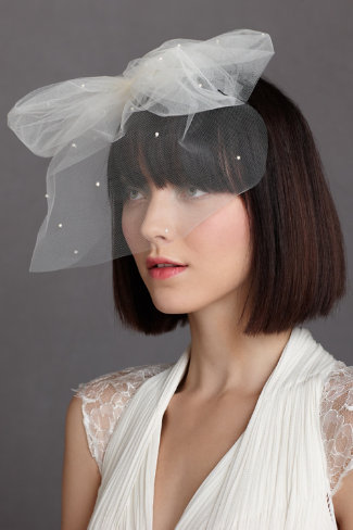 Weightless Birdcage Veil