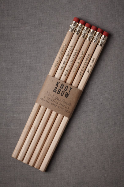 natural & gold Perfectly Paired Pencils (6) | BHLDN