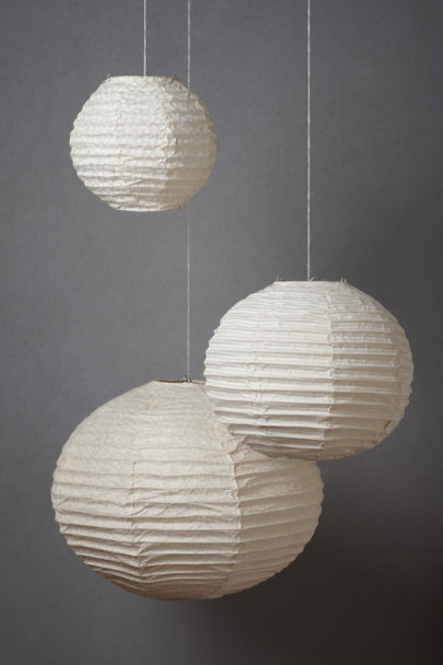 Ivory Patterned Collage Globes (3) | BHLDN
