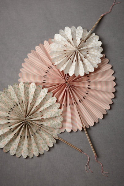 Pink Motif Crinkled Wheel Set (12) | BHLDN