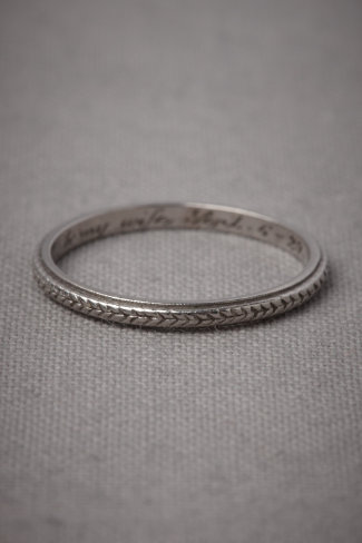 Plaited Platinum Ring