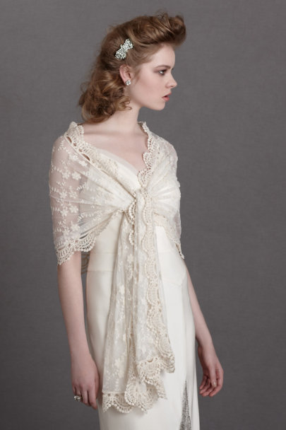 ivory Cherished Heirloom Scarf | BHLDN