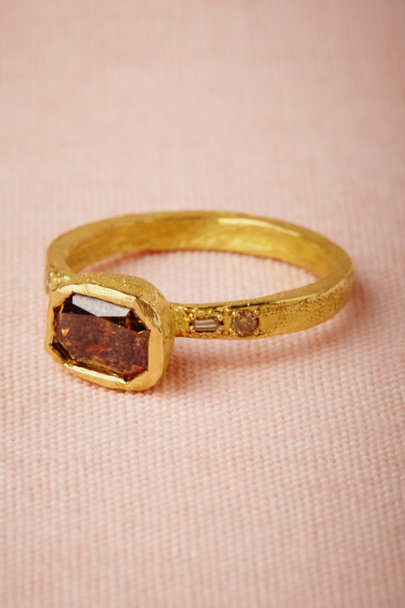 yellow gold Brandywine Ring | BHLDN