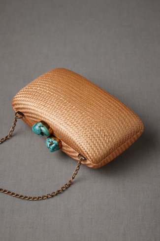 Kissing Turquoise Clutch