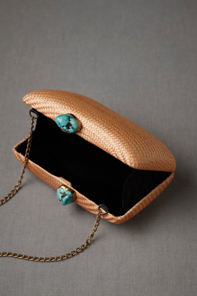 toast Kissing Turquoise Clutch | BHLDN