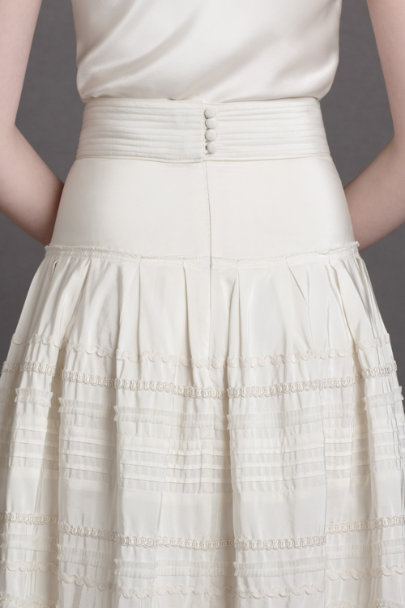 buttercream Silk Swells Skirt | BHLDN