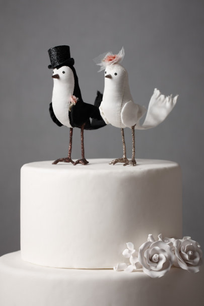 Black & White Perfect Pair Cake Topper | BHLDN