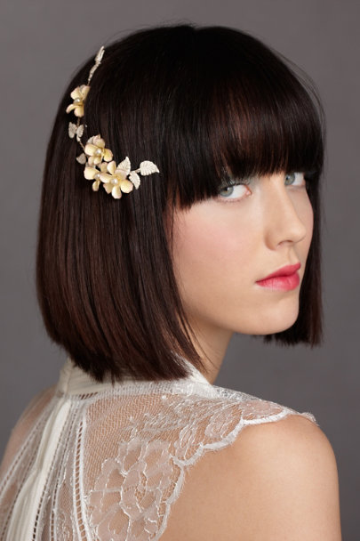 Debra Moreland neutral motif Garden District Headpiece | BHLDN