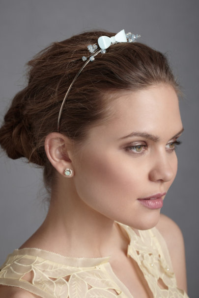 light blue Wonderland Headband | BHLDN