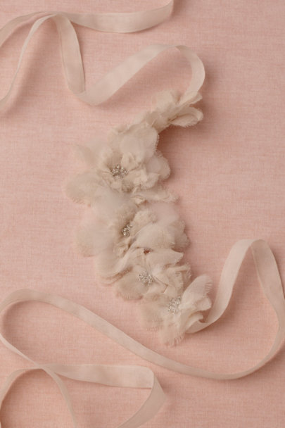 parchment Beaming Blossoms Sash | BHLDN