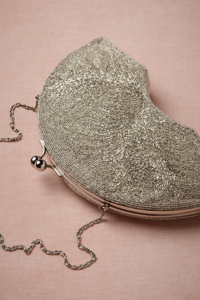 silver Radio City Clutch | BHLDN