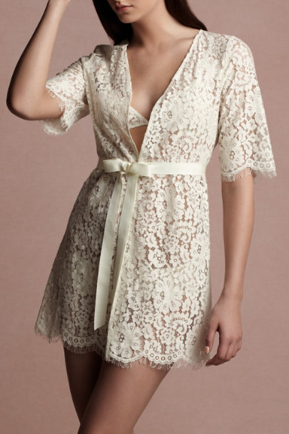 cream Jessamine Robe | BHLDN