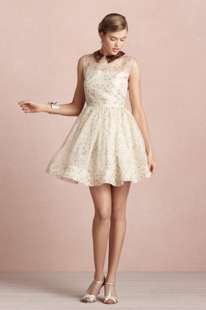 Orla Kiely ivory Dropwing Dress | BHLDN