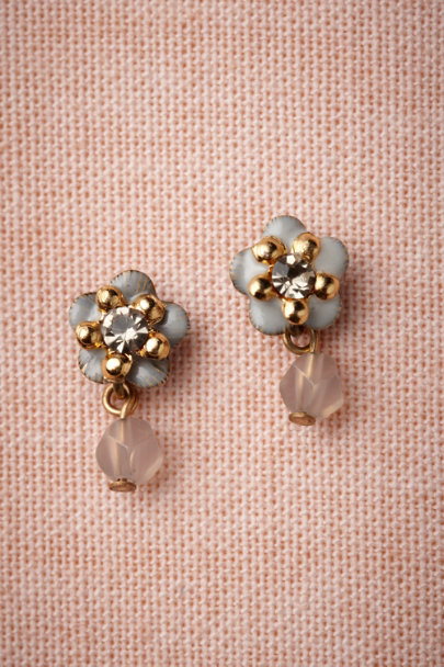 Eric et Lydie grey Divinity Earrings | BHLDN