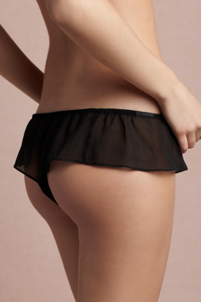 black Licorice Flutter Thong | BHLDN
