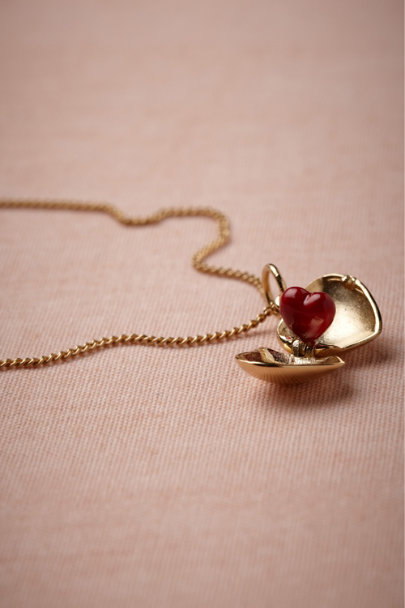 Les Néréides gold Coeur Necklace | BHLDN