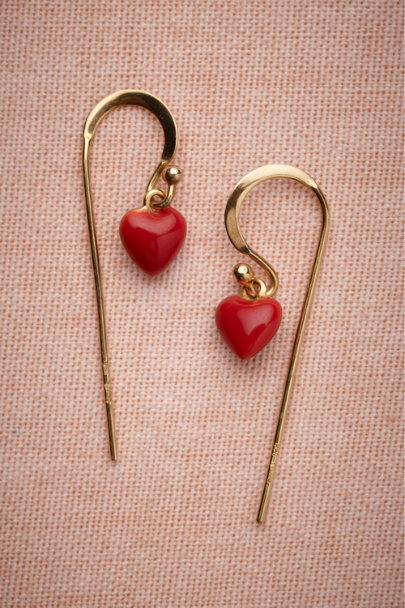 Les Néréides red Scarlet Crush Earrings | BHLDN