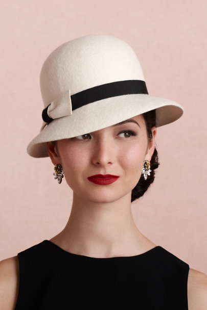 Mademoiselle Slassi white Cinema Cloche | BHLDN