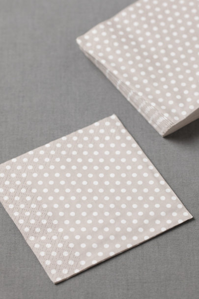 dove grey Polka-Dot Cocktail Napkins (20) | BHLDN